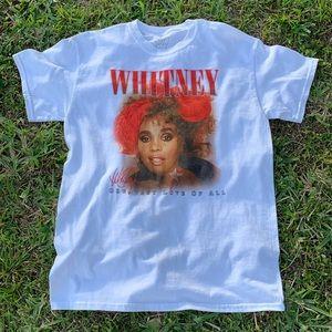 WHITNEY HOUSTON GREATEST LOVE OF ALL TEE SZ M